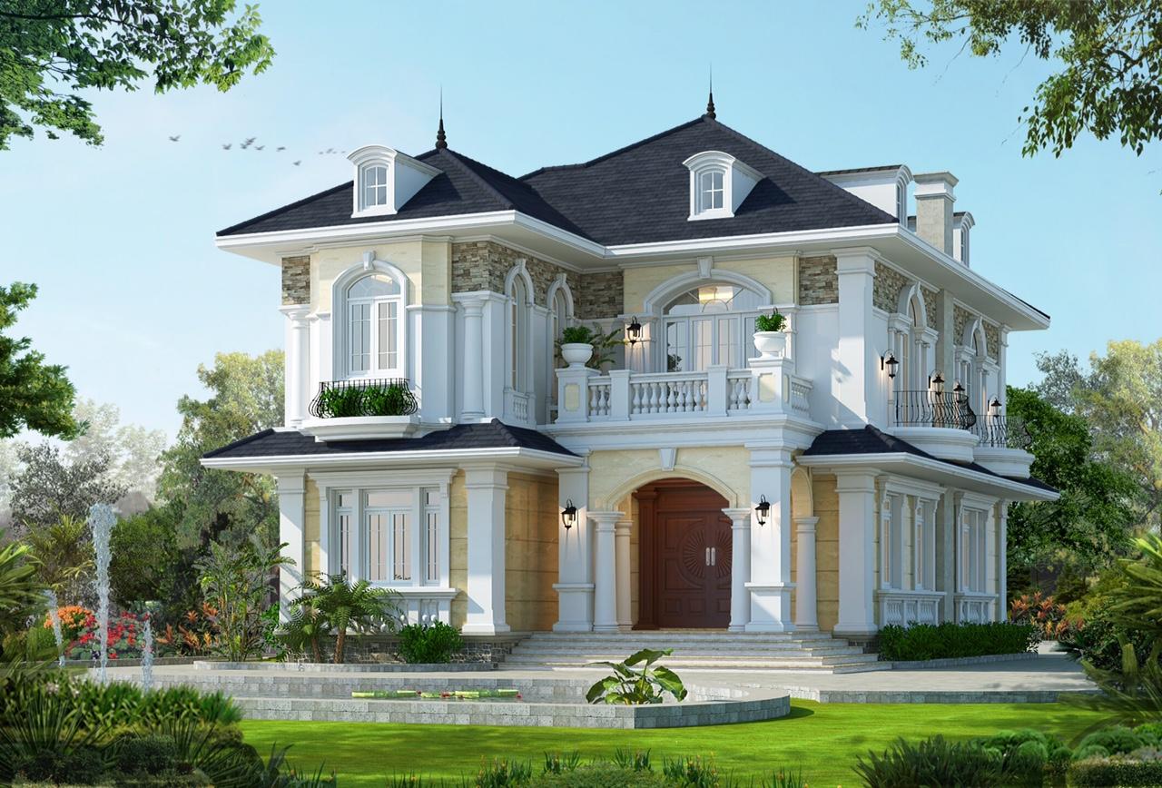 mẫu thiết kế biệt thự 2 tầng mái thái chưa bao giờ hết hot