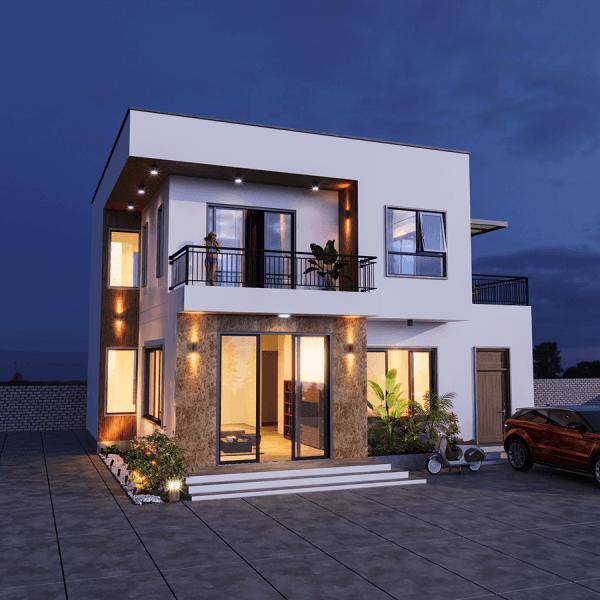 biệt thự mini 2 tầng phù hợp với gia chủ có quỹ đất nhỏ