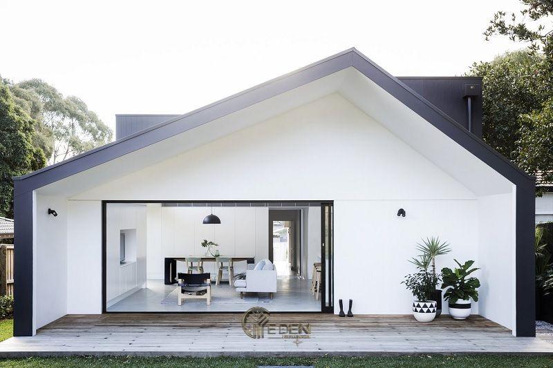 """Mẫu thiết kế nhà cấp 4 đẹp, giản đơn nhưng tinh tế phù hợp với """"gu"""" thẩm mỹ của nhiều khách hàng thích sự yên bình, nhẹ nhàng"""