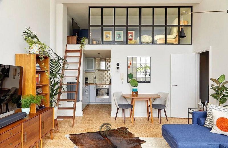 Mẫu thiết kế nhà cấp 4 7x12m hiện đại với lối thiết kế nội thất sáng tạo
