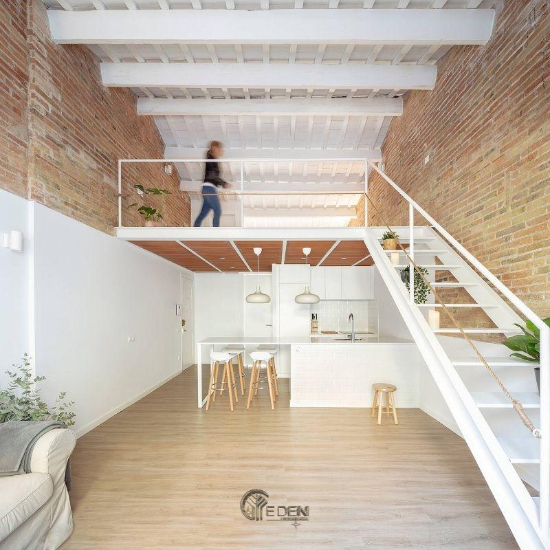 Mẫu thiết kế nhà cấp 4 đẹp, giản đơn nhưng tinh tế với chất liệu gỗ làm chủ đạo, kết hợp với gam màu trắng tạo cảm giác thoáng đãng, bình yên