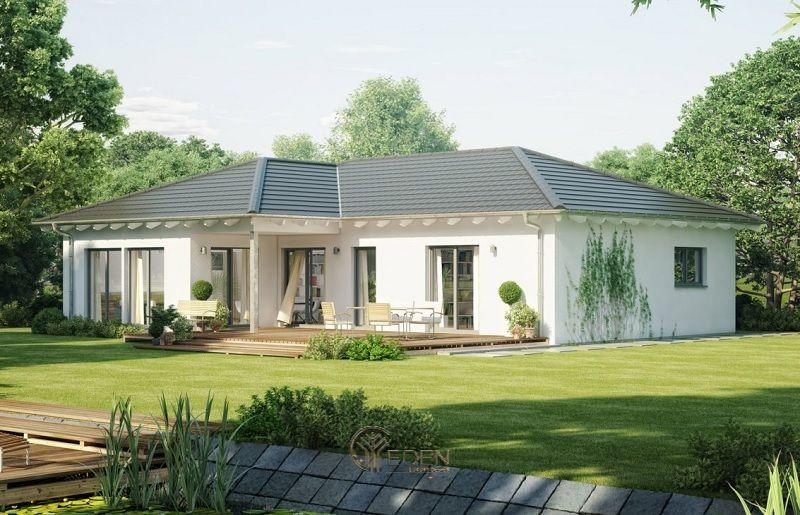 Mẫu thiết kế nhà cấp 4 với phong cách Châu Âu sang trọng phù hợp với mảnh đất 100m2