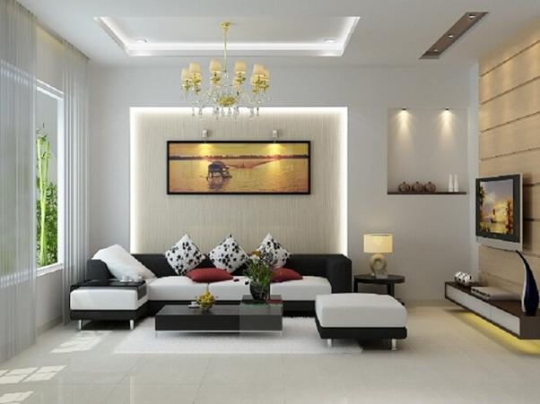 Phòng khách phong cách hiện đại mang đến sự gọn gàng và thoải mái