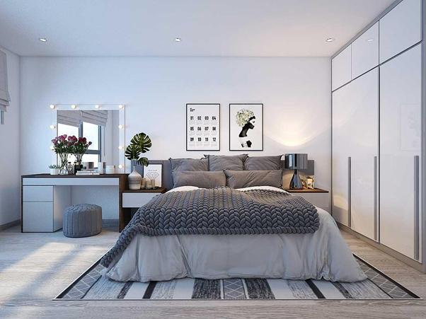 Mẫu thiết kế nội thất phòng ngủ hiện đại và thông thoáng