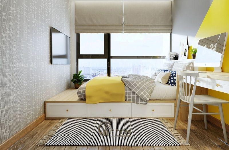 Thiết kế nội thất cho phòng ngủ nhỏ tận dụng ánh sáng mặt trời (2)
