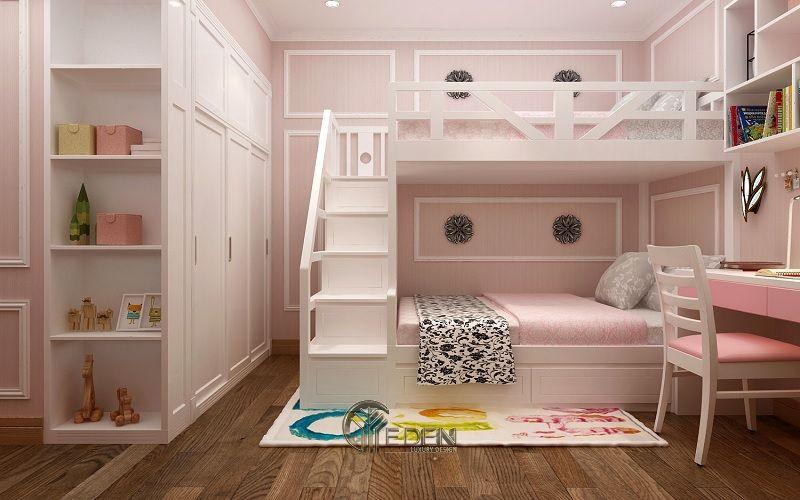 thiết kế nội thất phòng ngủ 2 giường (1)