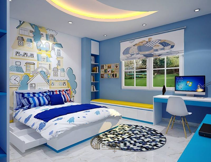 Thiết kế nội thất phòng ngủ bé trai (4)