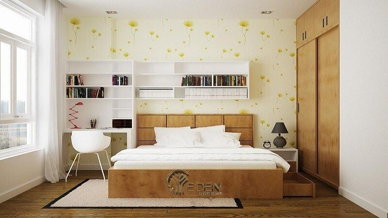 Thiết kế nội thất cho phòng ngủ nhỏ tận dụng ánh sáng mặt trời(1)