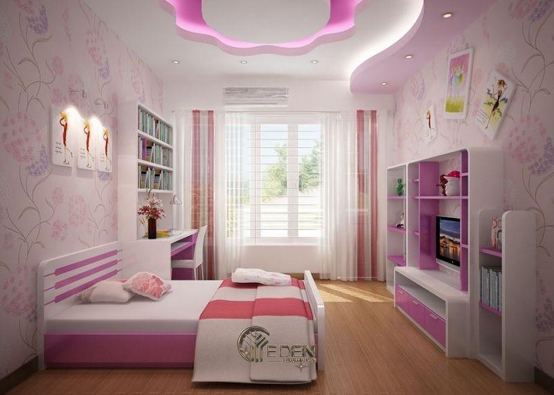Thiết kế nội thất phòng ngủ cho bé gái (1)