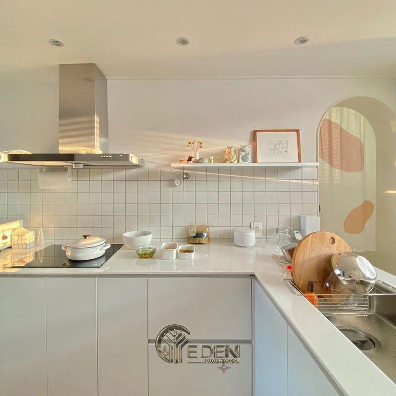 Lưu ý vị trí của bếp và bồn rửa bát