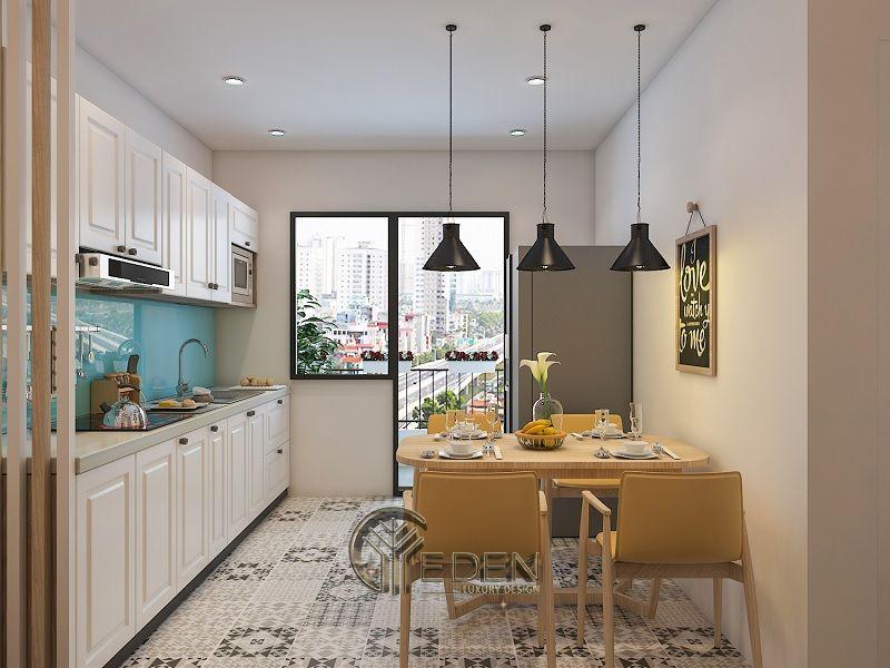 Thiết kế phòng bếp theo phong cách Vintage cổ điển phù hợp cho các gia đình ở chung cư