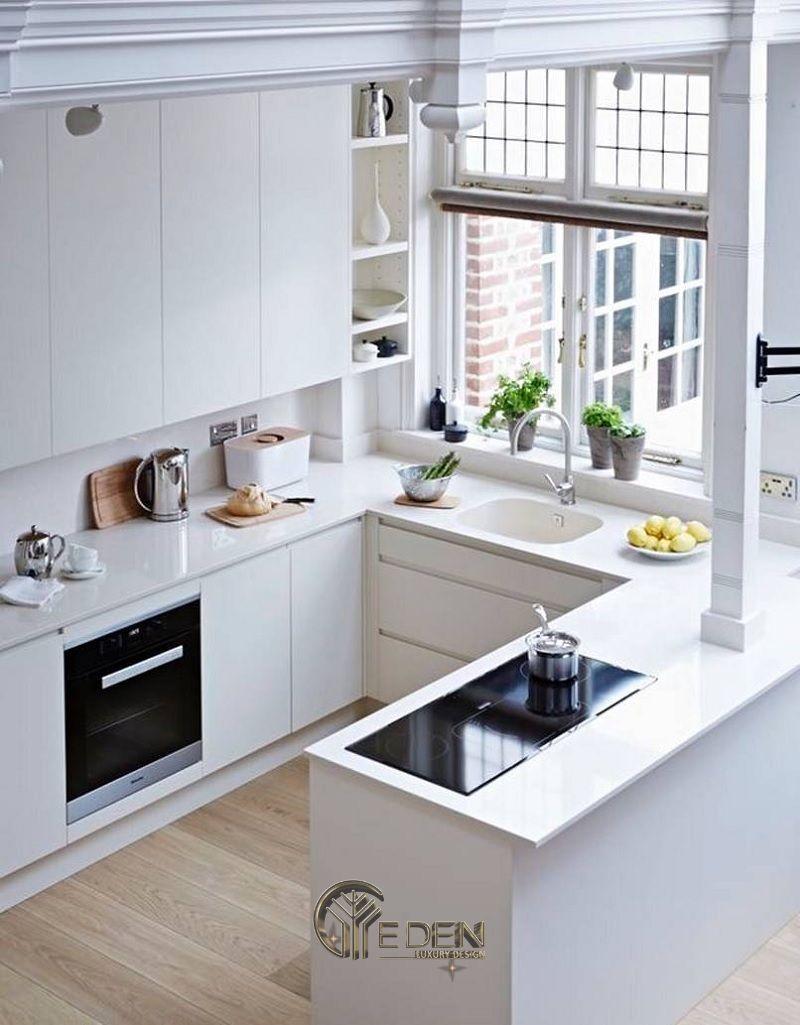 Thiết kế nội thất nhà bếp nhỏ cho các khu chung cư sẽ phù hợp với phong cách tối giản