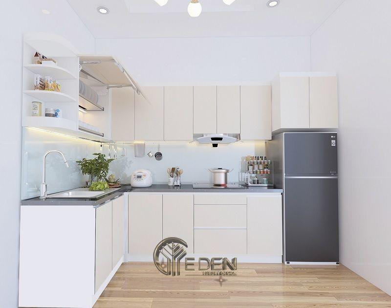Thiết kế nội thất phòng bếp nhỏ nên tận dụng phong cách Tối giản tiết kiệm không gian và chi phí của gia chủ