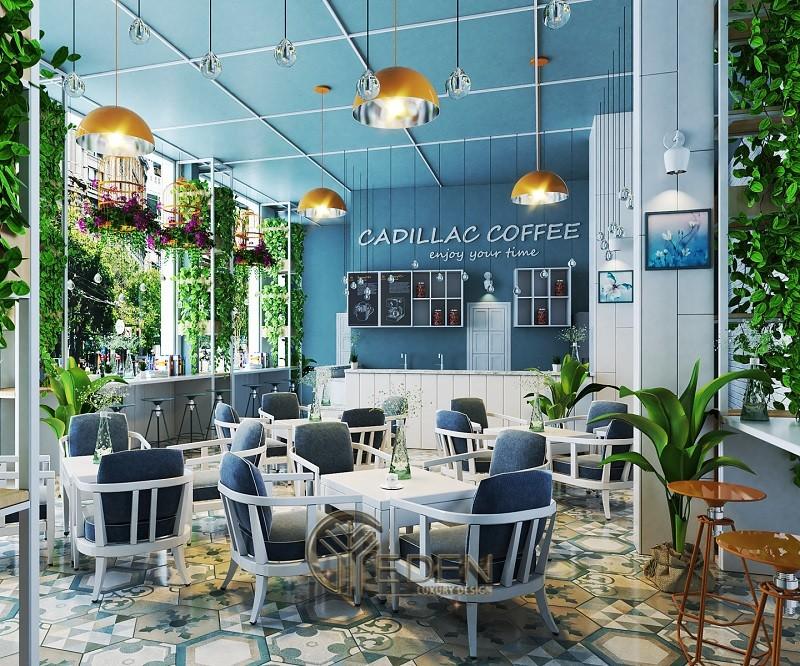 Thiết kế quán cafe với phong cách Tân cổ điển với không gian mở