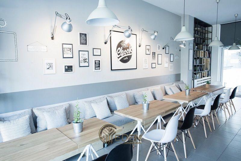"""Thiết kế quán cafe với phong cách """"Đen trắng"""" tối giản, sáng tạo"""