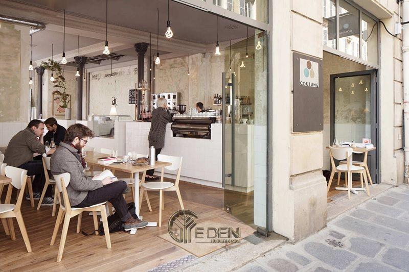 thiết kế quán cafe không gian mở