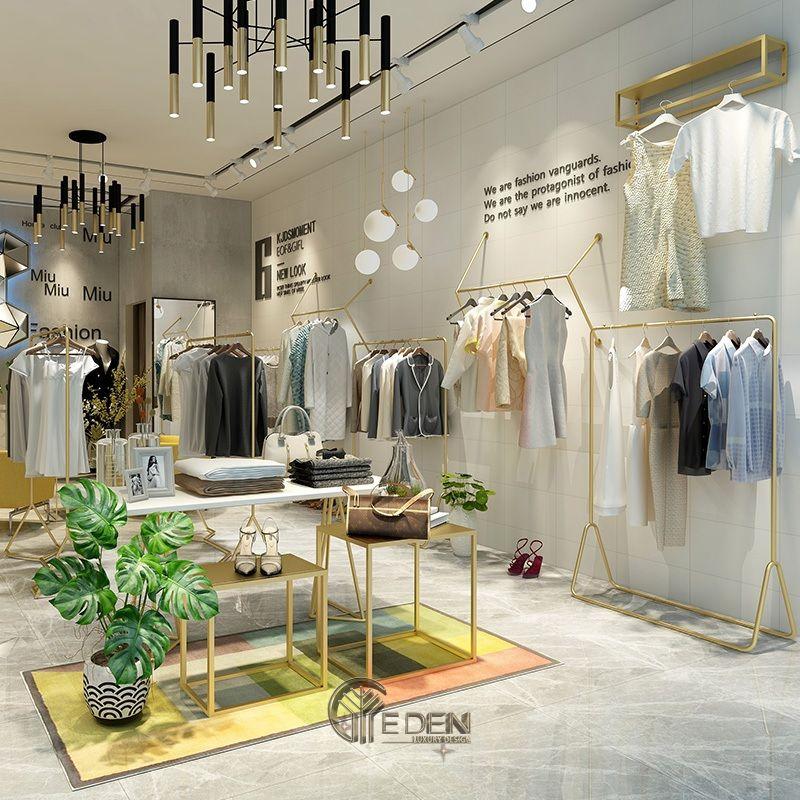 Lựa chọn chất liệu nội thất cho cửa hàng quần áo -Tông màu sáng