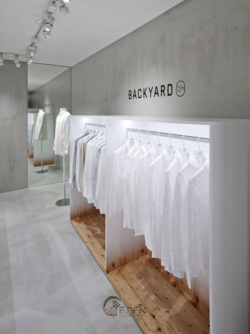 Mẫu thiết kế cửa hàng quần áo đẹp - Khách hàng nam phong cách Minimalism 5