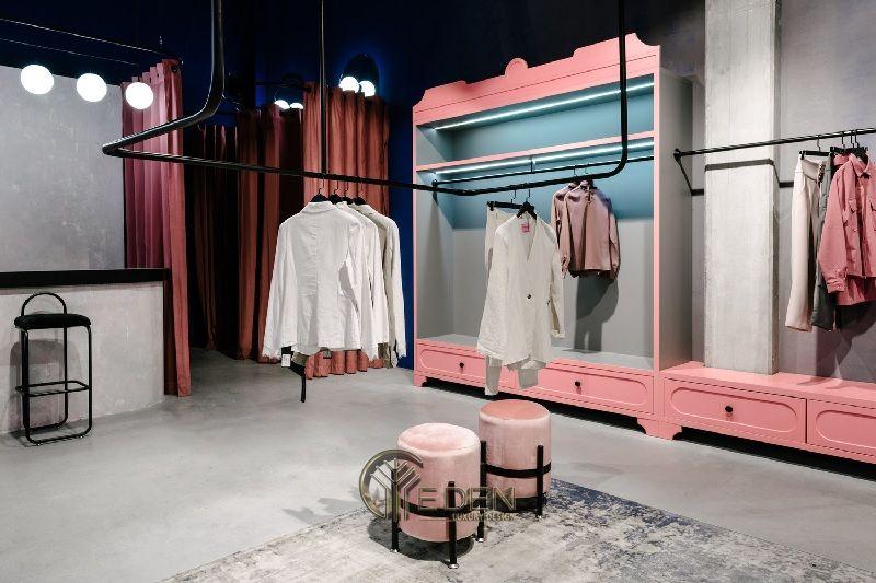 Mẫu thiết kế cửa hàng quần áo đẹp - Khách hàng nam phong cách Minimalism 6