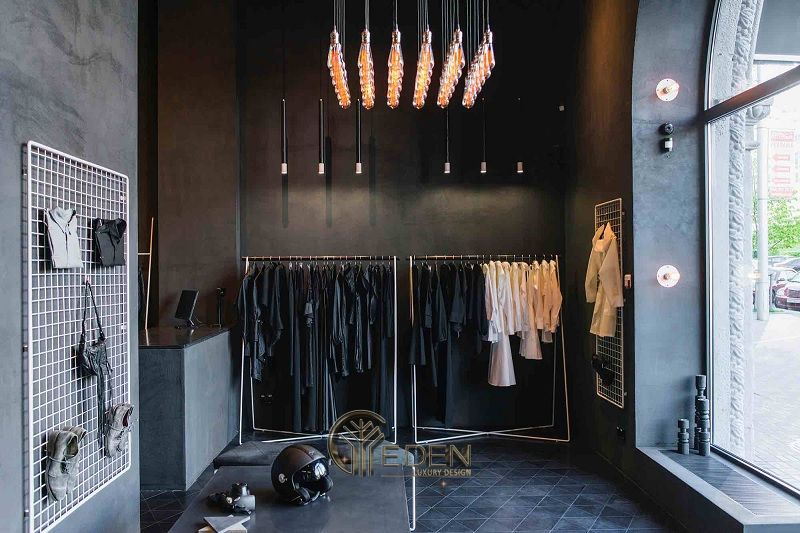 Mẫu thiết kế cửa hàng quần áo đẹp - Khách hàng nam phong cách Minimalism 7