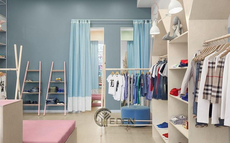 """Mẫu thiết kế cửa hàng quần áo đẹp cho """"con nít"""" 1"""