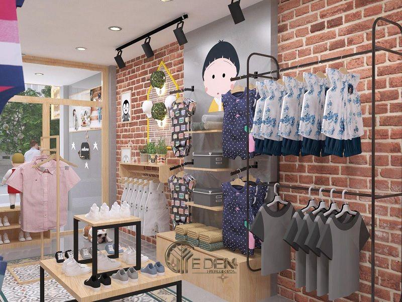 """Mẫu thiết kế cửa hàng quần áo đẹp cho """"con nít"""" 2"""