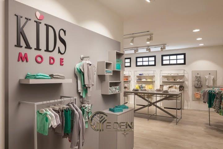 """Mẫu thiết kế cửa hàng quần áo đẹp cho """"con nít"""" 3"""