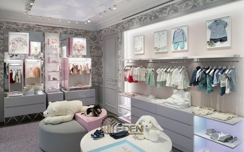 """Mẫu thiết kế cửa hàng quần áo đẹp cho """"con nít"""" 4"""