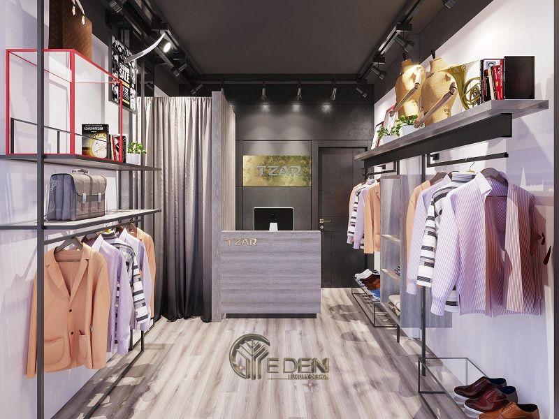 Mẫu thiết kế cửa hàng quần áo đẹp - Khách hàng nam công sở 2