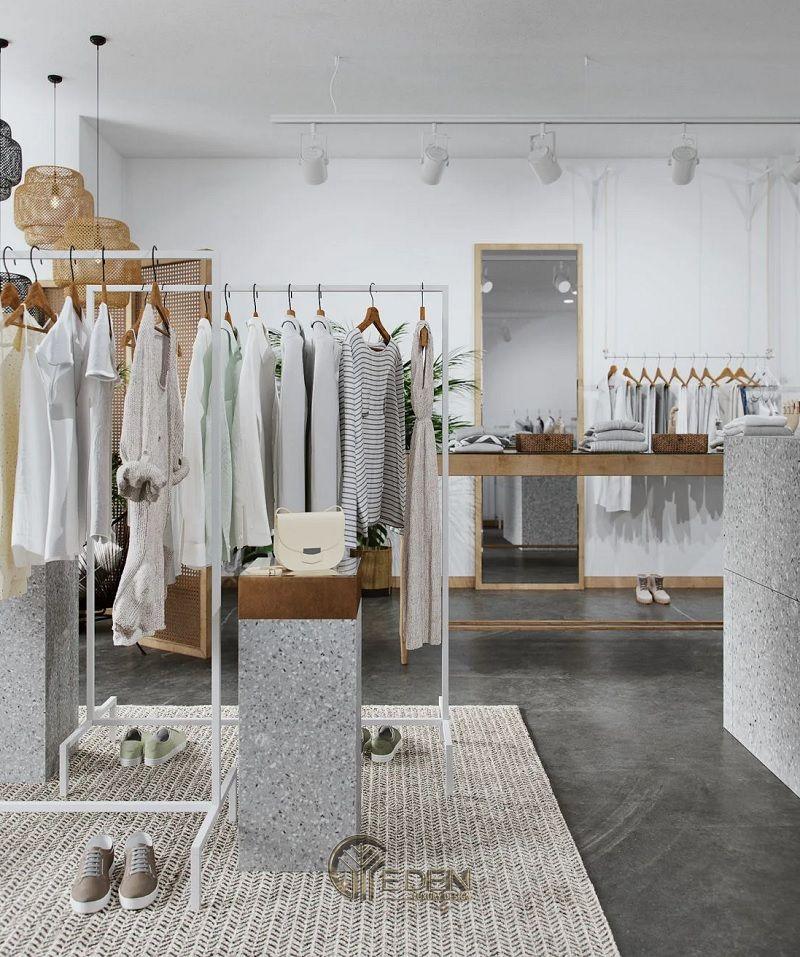 Gam màu trung tính được ưu tiên cho cửa hàng quần áo