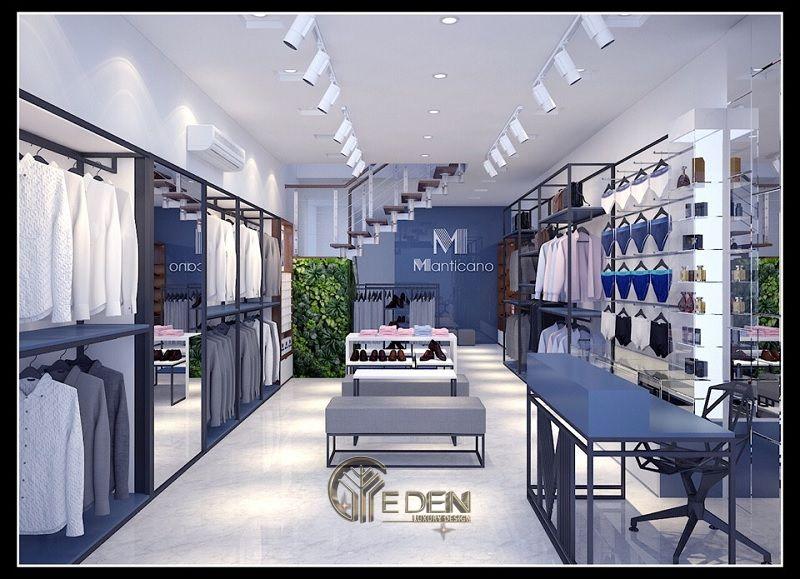 Mẫu thiết kế cửa hàng quần áo đẹp - Khách hàng nam công sở