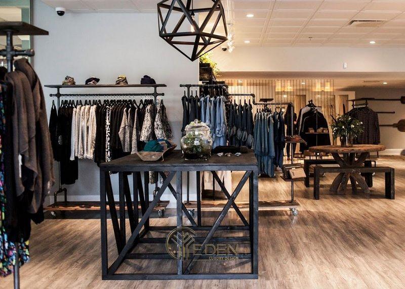 Lựa chọn chất liệu nội thất cho cửa hàng quần áo - Tông màu tối