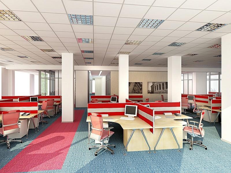 Màu đỏ cho không gian văn phòng nổi bật