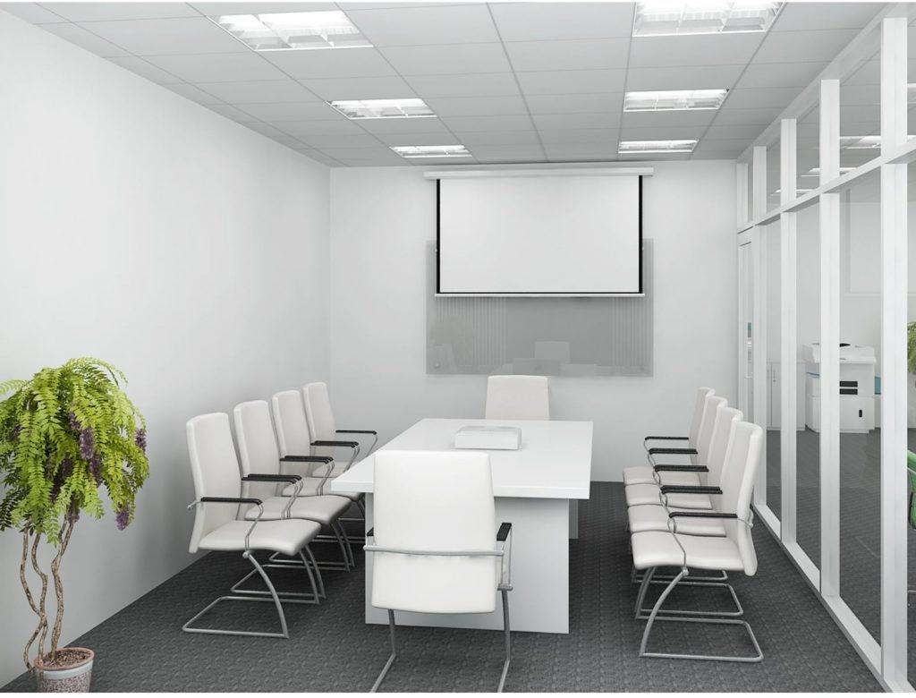 Màu trắng cho không gian văn phòng hiện đại