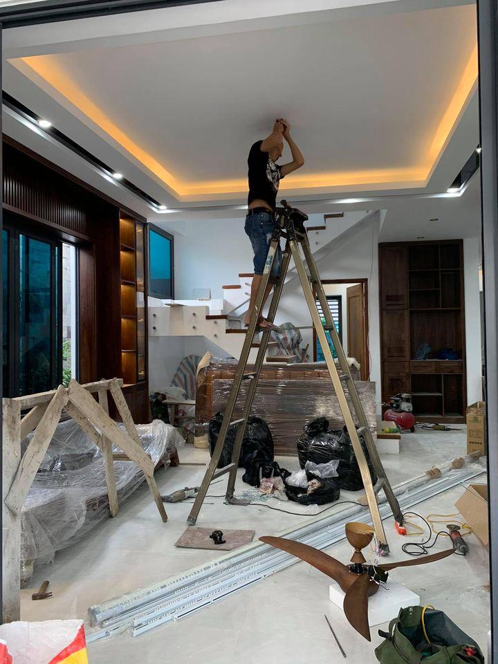 Thi công nội thất phần hoàn thiện thiết bị quạt trần