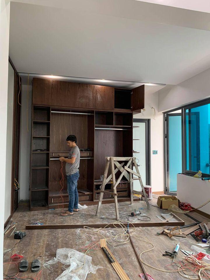 Thi công nội thất phần hoàn thiện thiết bị chiếu sáng