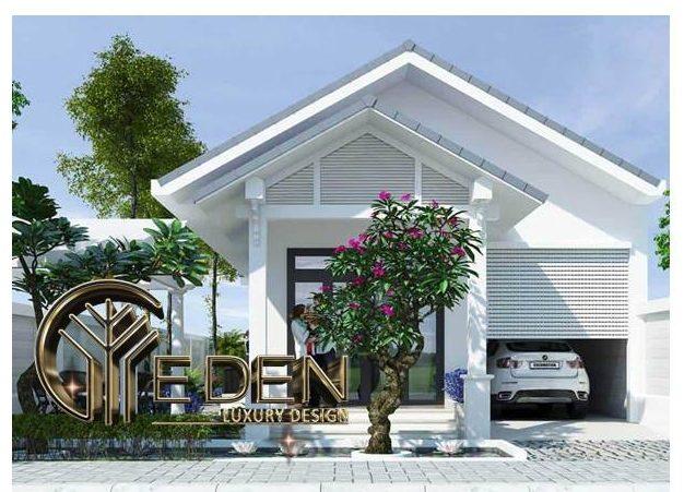 Thiết kế nhà 1 tầng 4x15 mái thái hiện đại