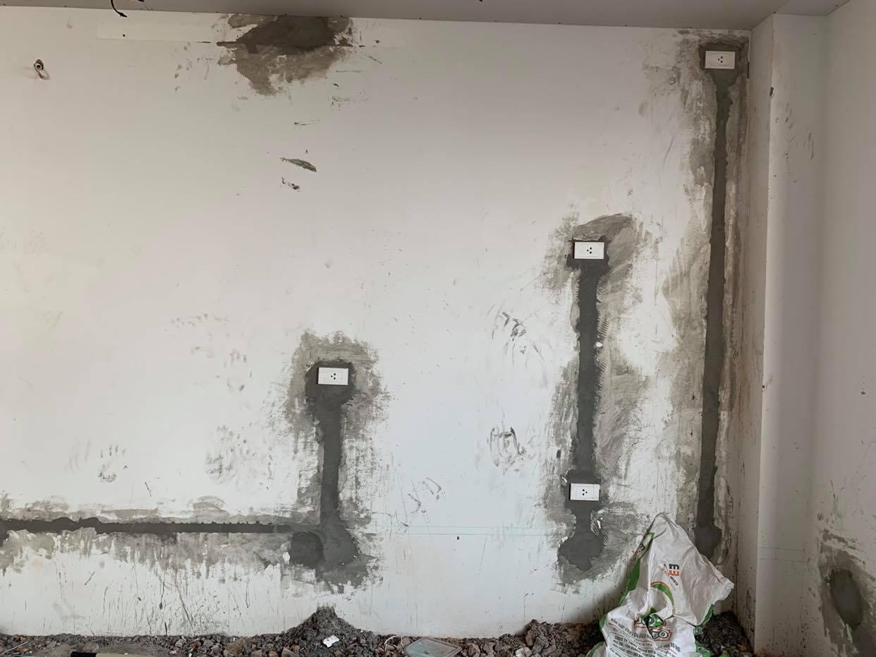 Thi công nội thất phần thô gồm điện nước
