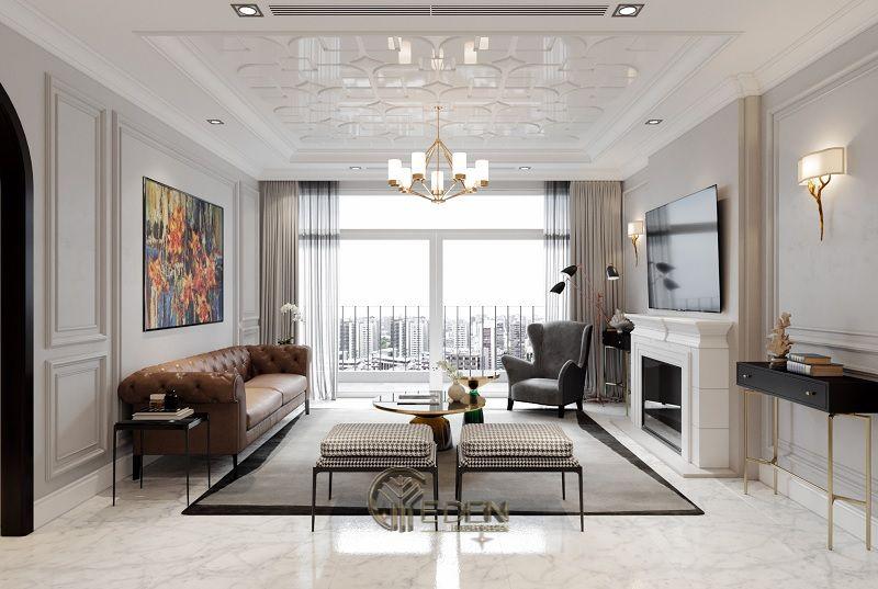 Thiết kế thi công nội thất chung cư mang phong cách Cổ điển - Mẫu 4