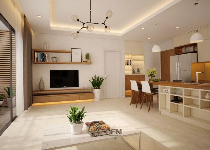 Thiết kế thi công nội thất chung cư mang phong cách Hàn Quốc - Mẫu 1