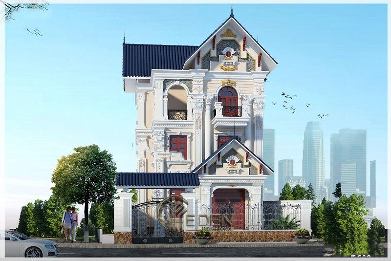 Thiết kế biệt thự 3 tầng theo phong cách tân cổ điển