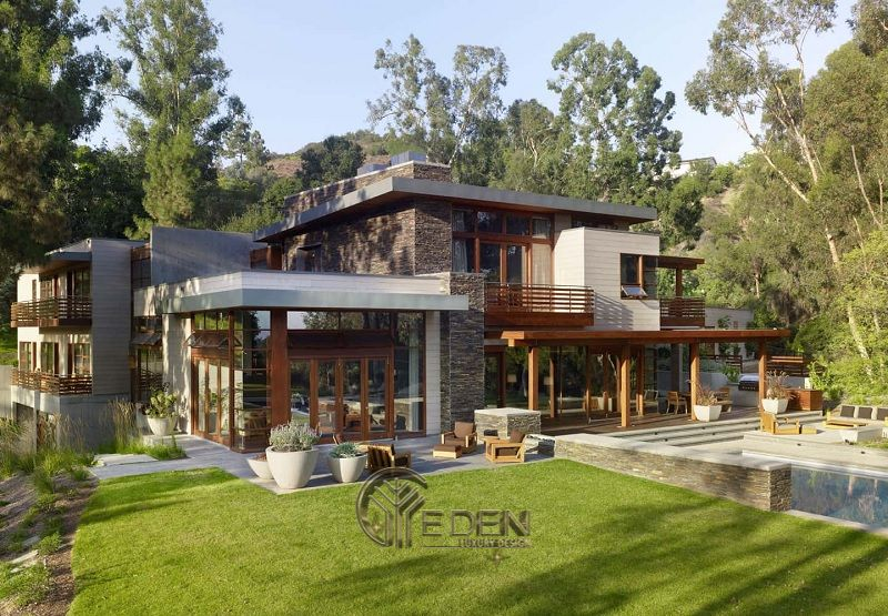 Thiết kế biệt thự sân vườn nơi ngoại ô thanh bình
