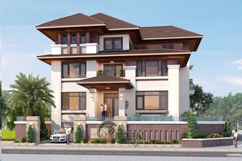 Thiết kế biệt thự mái thái mẫu 3