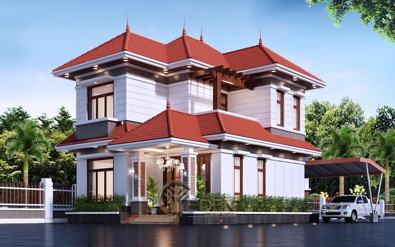 Thiết kế biệt thự mái thái mẫu 4