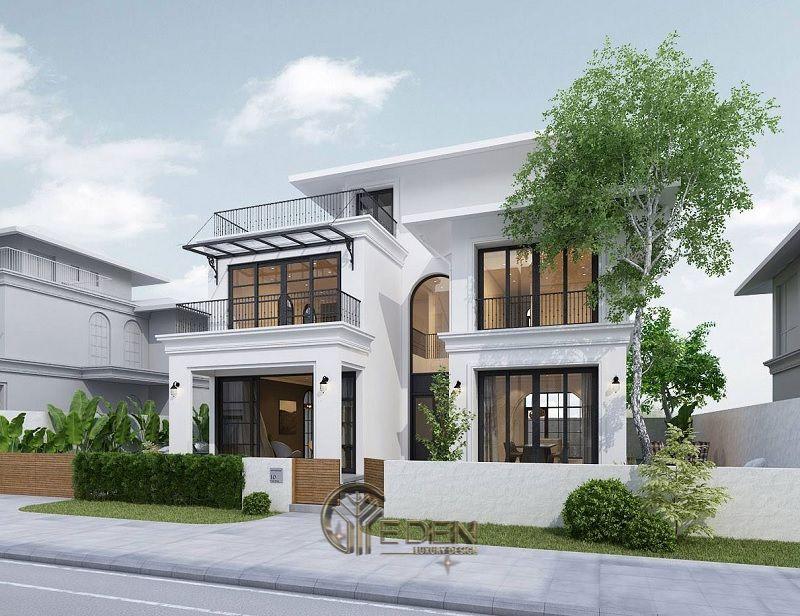 Thiết kế biệt thự hiện đại cùng gam màu trắng tối giản