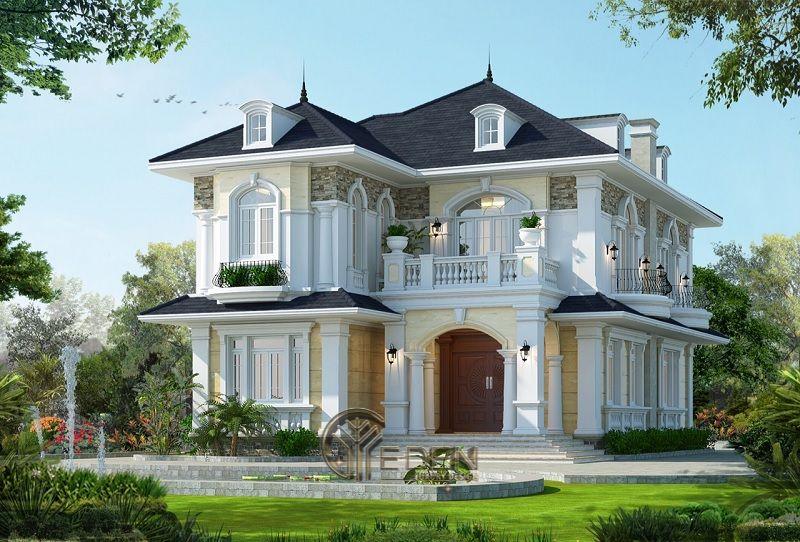 Phong cách Thiết kế biệt thự Pháp sang trọng - Mẫu 3