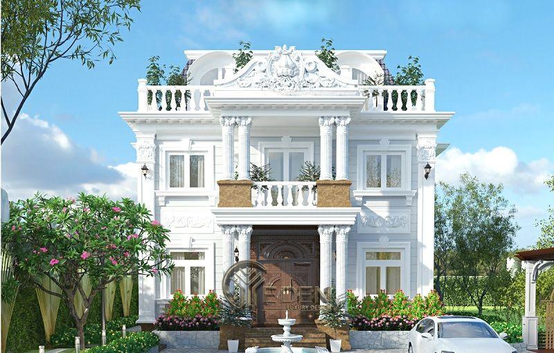 Phong cách Thiết kế biệt thự Pháp sang trọng - Mẫu 2