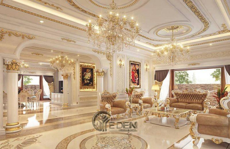 Thiết kế biệt thự Cổ điển cùng những đường nét chỉ vàng tinh tế