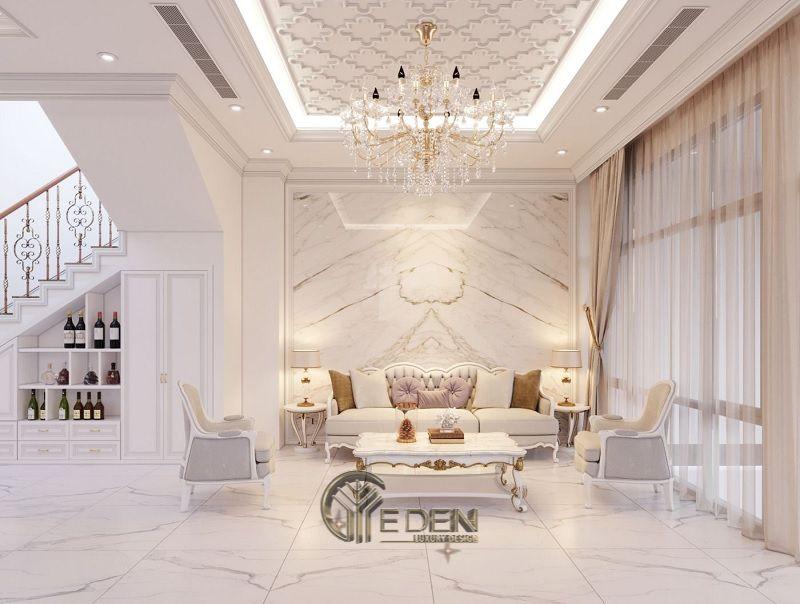 Thiết kế nội thất biệt thự Tân cổ điển tối giản cùng gam màu trắng