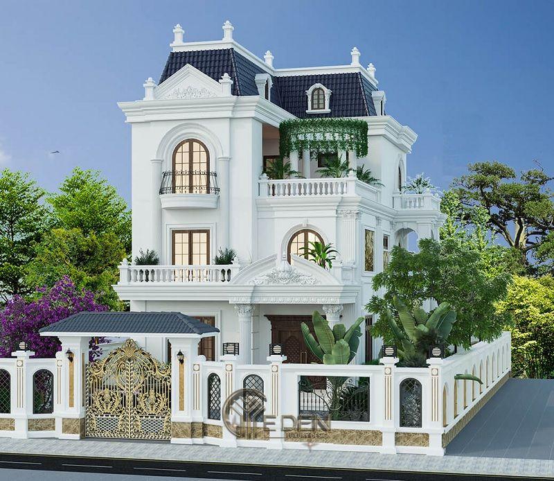 Phong cách Thiết kế biệt thự Pháp sang trọng - Mẫu 1